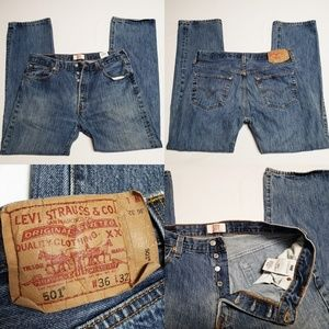 Levi's Original 501 Jean's straight Leg Button fly